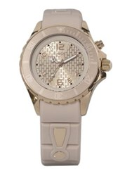 Kyboe Power Sand Dollar Silicone And Rose Goldtone Stainless Steel Strap Watch 40Mm