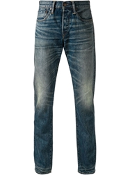 Simon Miller Faded Slim Fit Jeans Blue