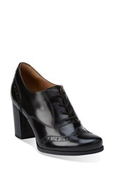 Women's Clarks 'Ciera Brine' Oxford Pump Black Leather