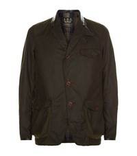 Barbour Beacon Waxed Sports Jacket Male Olive