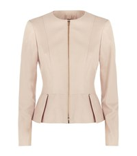 Hugo Boss Sasoon Peplum Leather Jacket Female