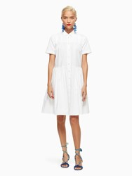 Kate Spade Poplin Swing Shirtdress Fresh White