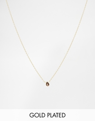 Asos Gold Plated Sterling Silver November Birthstone Choker Necklace Topazgold