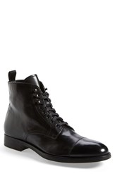 Men's To Boot New York 'Stallworth' Cap Toe Boot Black Leather