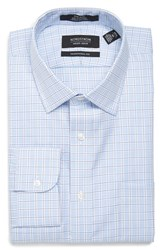 Nordstrom Men's Big And Tall Men's Shop Traditional Fit Non Iron Plaid Dress Shirt Blue Colbalt