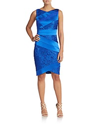Jax Lace And Satin Dress Electric Blue