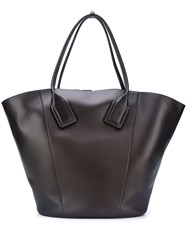 Bottega Veneta Large Basket Tote Brown