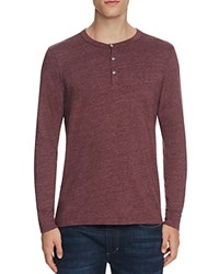 Sol Angeles Long Sleeve Henley Tee Mahogany