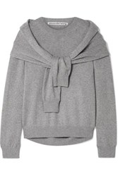 Alexander Wang Tie Front Knitted Sweater Gray