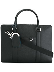 Bulgari Double Strap Briefcase Black