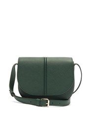 A.P.C. Betty Grained Leather Shoulder Bag Dark Green