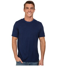 Smartwool Fish Creek Solid Tee Deep Navy Men's Short Sleeve Pullover