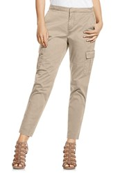 Women's Two By Vince Camuto Cotton Chino Crop Cargo Pants Khaki Tan
