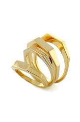 Women's Vince Camuto 'Super Fine' Faceted Rings Set Of 4