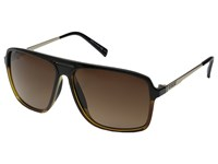 Von Zipper Hotwax Hardline Black Tortoise Brown Gradient Sport Sunglasses