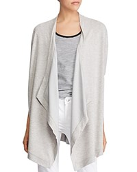 Ralph Lauren Draped Open Front Cardigan Gray