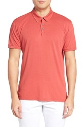 Velvet By Graham And Spencer Men's Bryant Jersey Polo Crayon