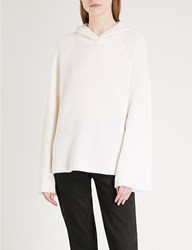 Elizabeth And James Tristan Flared Sleeve Cashmere Hoody Creme