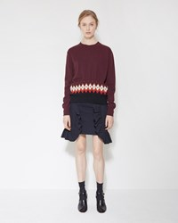 Marni Ruffle Pocket Skirt Blublack