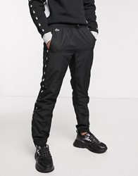 Lacoste Sport Track Pant With Brand Taping In Black