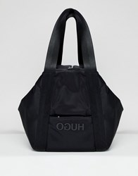 Hugo Logo Nylon Bag Black Combi