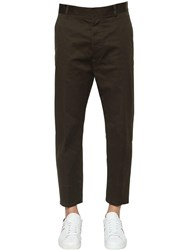 Dsquared Brad Stretch Cotton Twill Pants Military Green