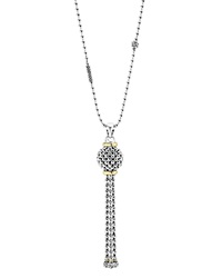 Lagos Caviar Tassel Sterling Silver Pendant Necklace With 18K Gold 36 Silver Gold