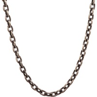 Oxidized Silver Open Ended Chain
