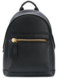 Tom Ford Leather Backpack Bos Taurus Cotton Acrylic Brass Black