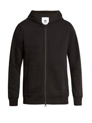 Adidas Originals By Wings Horns Zip Through Bonded Cotton Jersey Hooded Sweatshirt Black