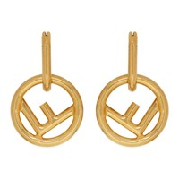 Gold 'F Is Fendi' Hoop Earrings