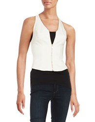 Guess Zip Front Denim Vest Pink