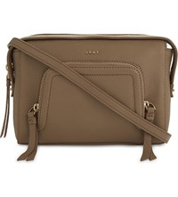 Dkny Chelsea Vintage Grained Leather Cross Body Bag Natural