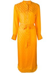 Indress 'Lagos' Shirt Dress Women Silk Modal 3 Yellow Orange