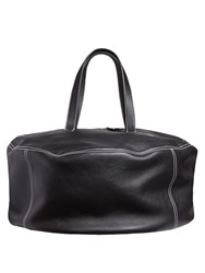 Balenciaga Air Hobo Contrast Stitch Leather Tote Black