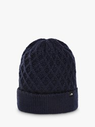 The North Face Shinsky Cross Stitch Beanie Montague Blue