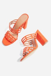 Topshop Saskia Caged Mules Orange