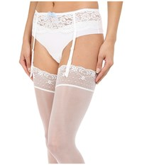 B.Tempt'd Ciao Bella Garter Belt Bridal White Women's Lingerie