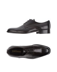 Galliano Lace Up Shoes Dark Brown
