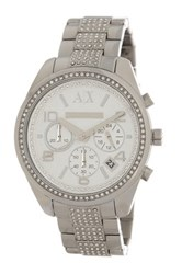 Armani Exchange Women's Sarena Chronograph Watch Metallic