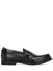 Burberry Emile Tb Embossed Leather Loafers Black