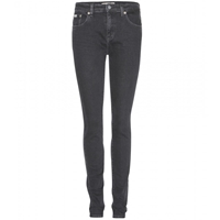 Calvin Klein Jeans Mytheresa.Com Exclsuive High Rise Skinny Jeans Salt Black Stretch