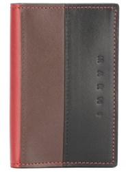 Marni Tricolour Wallet Red