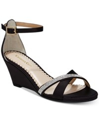 Charter Club Mcalister Wedge Evening Sandals Created For Macy's Women's Shoes Black