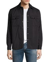Rag And Bone Point Snap Front Shirt Jacket Black