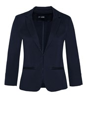 Hallhuber Blazer Sofia With 3 4 Length Sleeves Blue