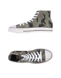 Happiness Is A 10 Tee High Tops And Trainers Military Green