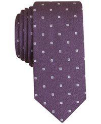 Bar Iii Men's Mitchell Neat Slim Tie Only At Macy's Purple