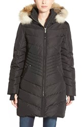 Women's Pajar 'Brooklyn' Genuine Coyote And Rabbit Fur Trim Down Parka Jet Black