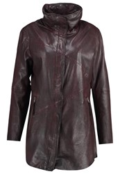 Freaky Nation Summer Wine Leather Jacket Bordeaux